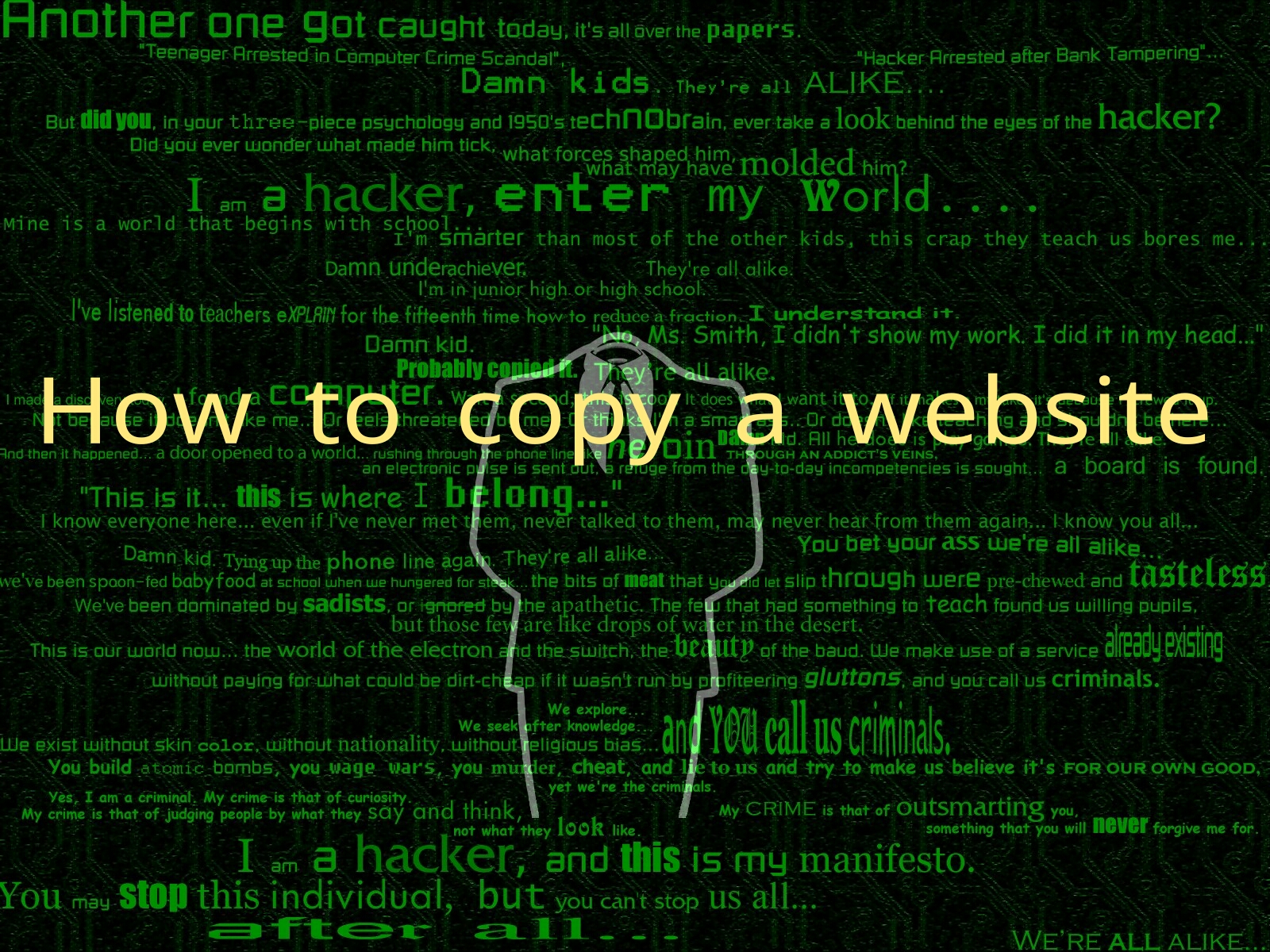 HOW TO COPY ANYONE'S WEBSITE