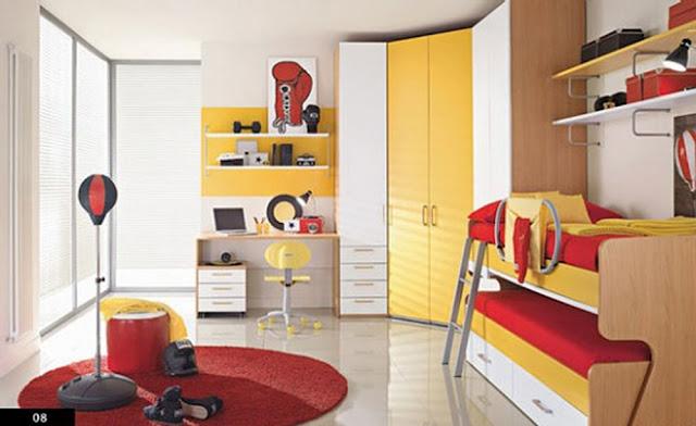 غرف نوم الأطفال بألوان مرحة