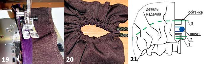 Декоративные элементы отделки из шифона и застежки-молнии