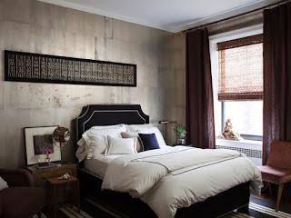 Cortinas habitación moderna