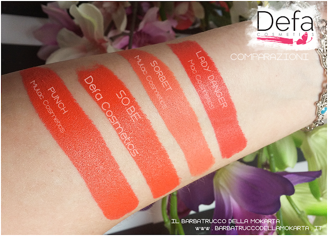 so.be. comparazioni Defa cosmetics lipstick