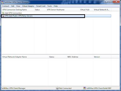 selecting VPN Gate Public VPN Relay Servers