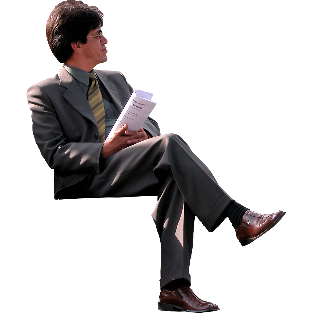 Immediate Entourage: Businessman On Park Bench
