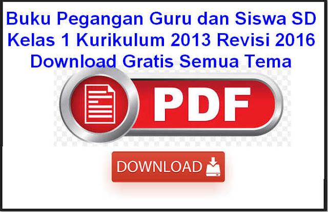 Buku Pegangan Guru dan Siswa SD Kelas 1 Kurikulum 2013 Revisi 2016 Download Gratis Semua Tema