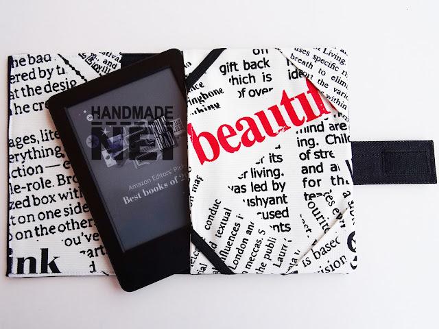 """Handmade Nel: Калъф за електронна книга от плат """"Таблоид"""""""