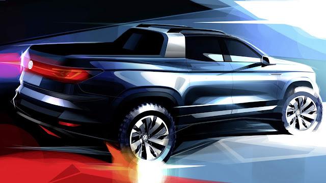 VW mostrará picape concorrente da Toro no Salão de SP