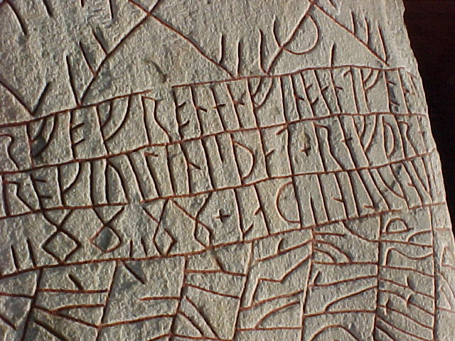 write in runes The letters all have names like thorn (þ) for th /θ/ and isaz (ᛁ) 'ice' for /i/ ancient germanic did use them for magical purposes but they also used it for everyday writing for english, it's actually a little more efficient because it has single letters like thorn (þ) for sounds that need to be written with two letters in the modern.