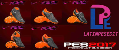 PES 2017 Nike Black/Total Orange Pack 2018 by LPE09