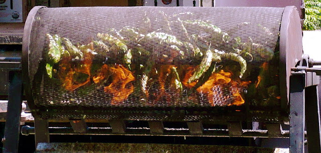 roasting chile, roasting chiles, new mexico chile