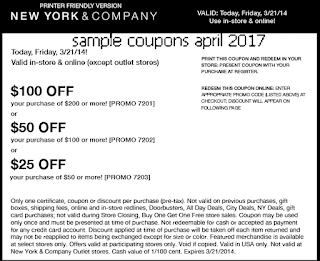 free New York And Company coupons april 2017