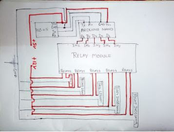 Circuit Diagram Smart Bike Arduino Project with Bluetooth