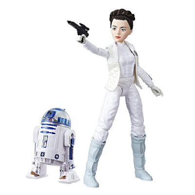STAR WARS Forces of Destiny - Princesa Leia Organa & R2D2 | Figura - Muñeco | Hasbro 2017 | Serie Web Youtube Disney detalle juguete