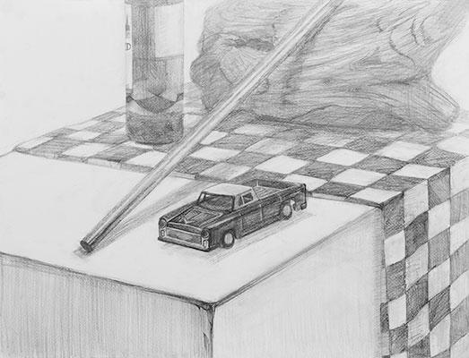 美術クラブ_中学生のデッサン作品