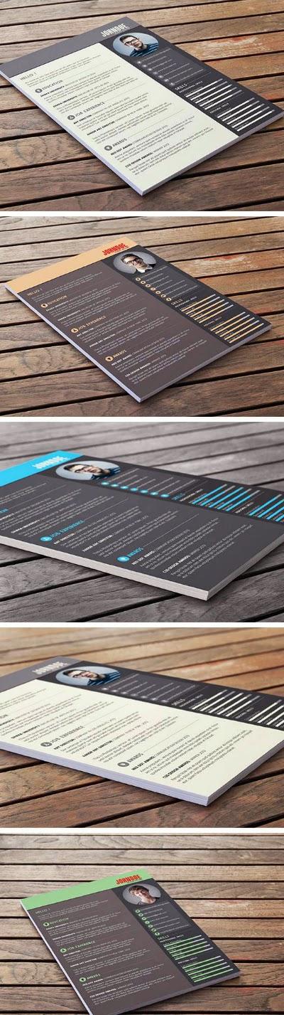 Free Resume/CV PSD Template