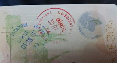 Sello pasaporte Turquía
