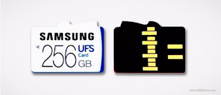 Samsung  designed a slot for both UFS(256GB) and microSD cards