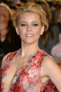 On the day before, Elizabeth Banks avoided talking about her fashion dignity as she showcased her enviable figure in a wonderful classic gown on Monday, November 10, 2014.
