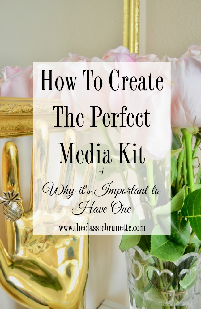 The classic brunette how to create a media kit why it39s important to have one for Media kit canva