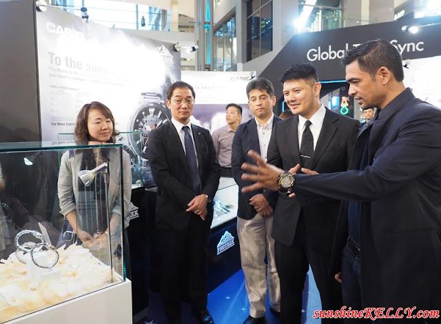 Casio Global Time Sync showcase, Ayumi Nakamura, Yoshiuiki Hasegawa, Casio japan, Hiroyuki Sezai, Casio Malaysia, SJ Ong, Marco Corporation, Datuk Dr Sheikh Muszapha,