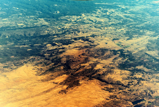 Another aerial photo of landscapes in the US (somewhere between California and Ontario Canada).