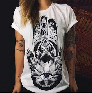 красивая футболка с принтом хамса