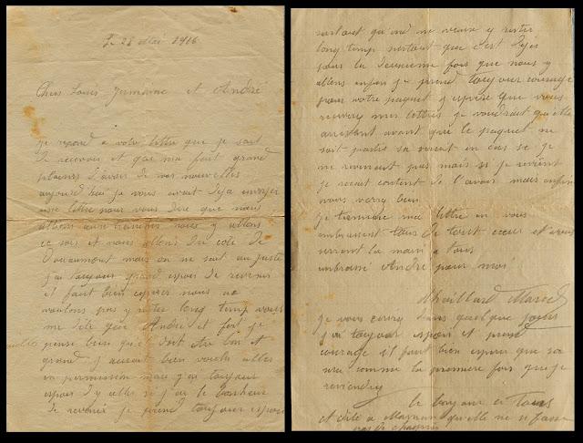 Marcel Charles Adrien Thaillard (1896-1916) - Lettre du 28 mai 1916