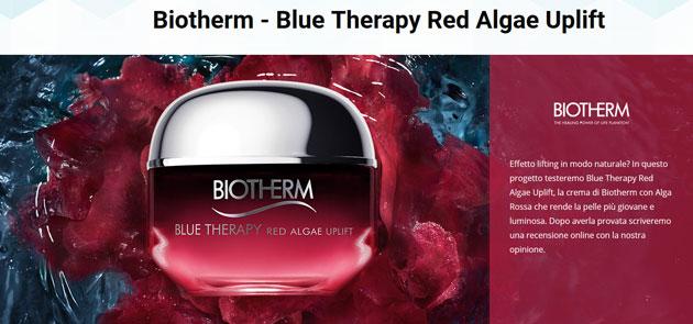 clicca qui per candidarti come tester di Biotherm Blue Therapy Red Algae Uplift