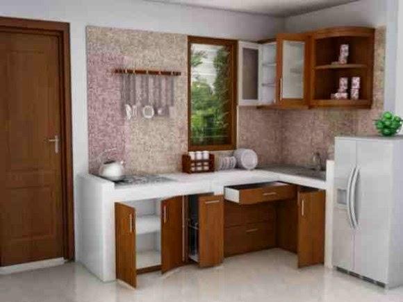 Dapur sederhana yang ramah kantong