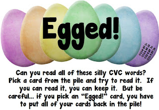 egged!  a FREE easter-themed cvc word game, perfect for centers!