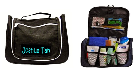Personalized Toiletry Bag that is able to carry a lot of toiletries inside