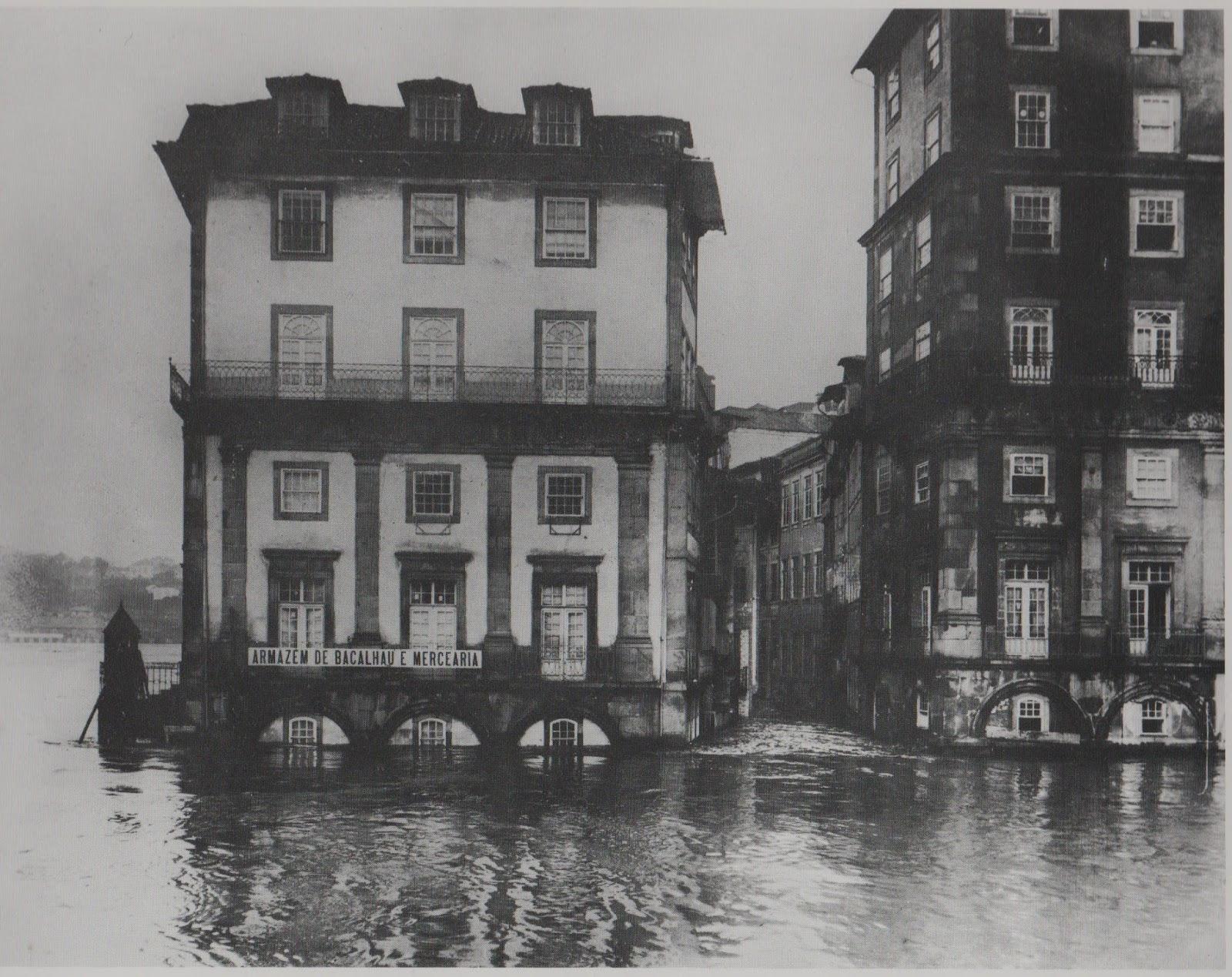8.1.6 – Inundações do rio Douro III - Cheia de 1909, Ribeira inundada,  Ponte Luis I durante a cheia 1909, Ribeira depois da cheia, D. Manuel II  visita o ... ab69c3ea3e