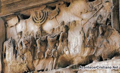 El candelabro en el Arco de Tito