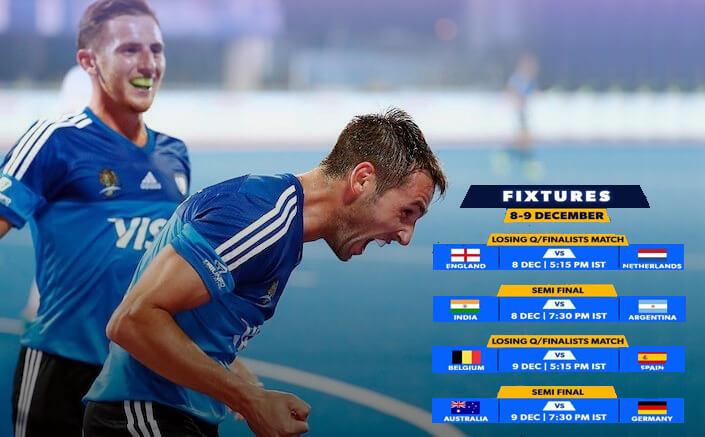 Argentina and Germany complete semi-final fixtures at Odisha Men's Hockey World League Final Bhubaneswar 2017