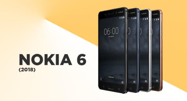 رسميا الكشف عن هاتف نوكيا 6 نسخة 2018