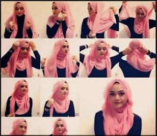Tutorial Hijab Segi Empat Terbaru 2014
