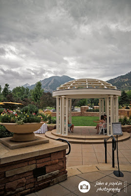 Photograph of the courtyard at the St Julien Hotel in Colorado for a Wedding