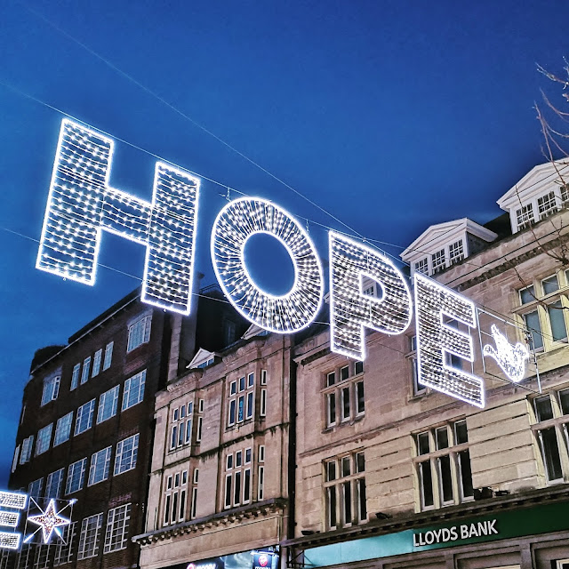 Hope christmas lights in brighton