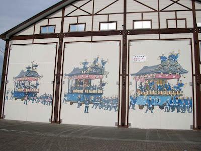 屋台の壁画1