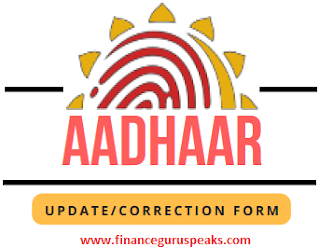 Download Aadhaar Update and Correction Form