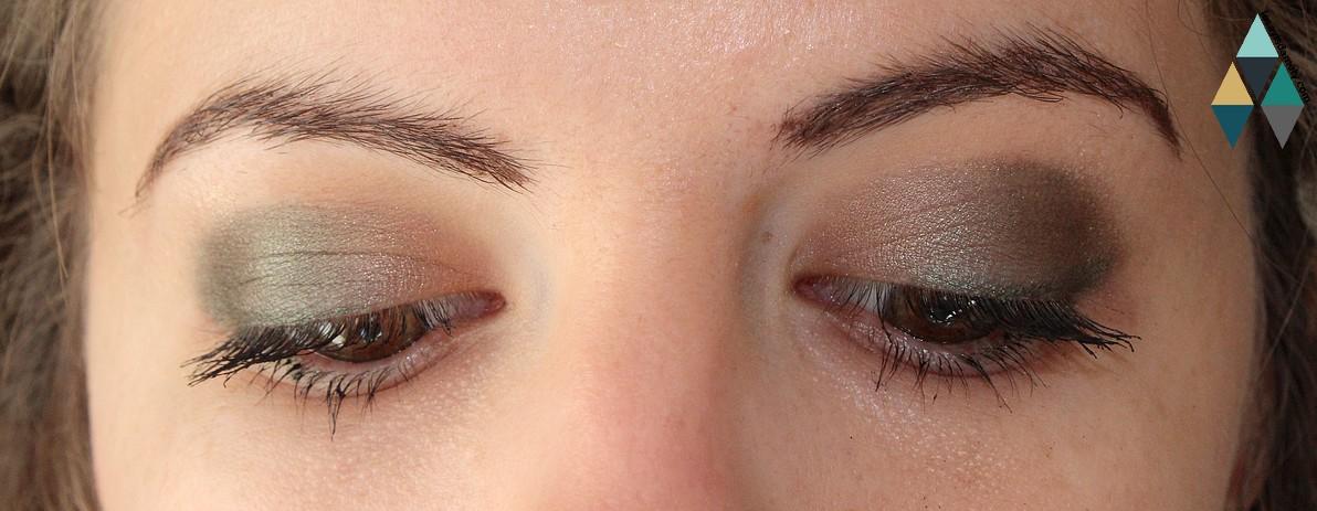 smoky eyes verts et dorés