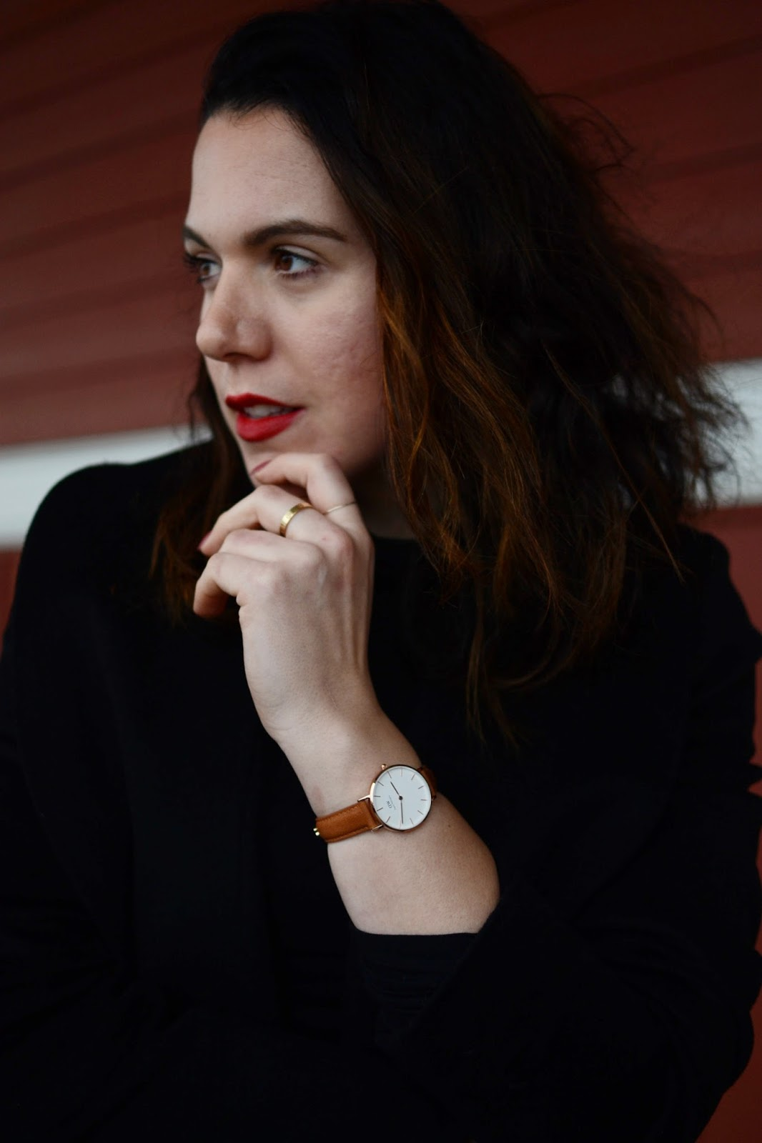 Daniel Wellington rose gold watch vancouver fashion blogger aleesha harris