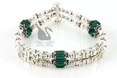 Live Life Give Life Organ Donation Awareness Bracelet (B113)