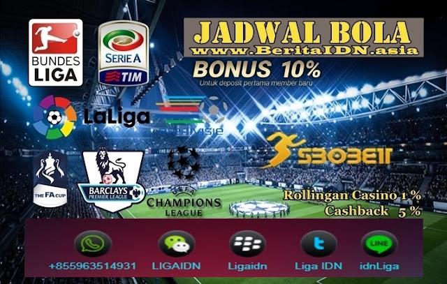 Jadwal Pertandingan Bola Tanggal 22 - 23 Maret 2019