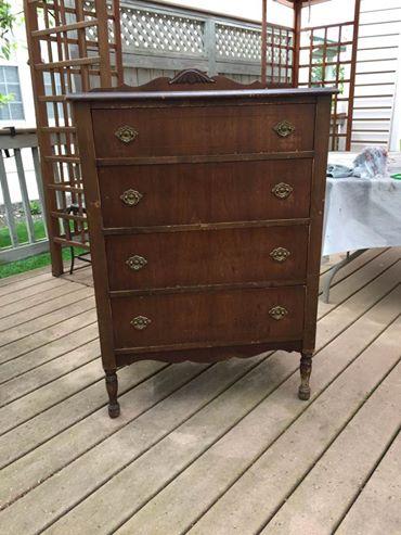 Before: Vintage dresser