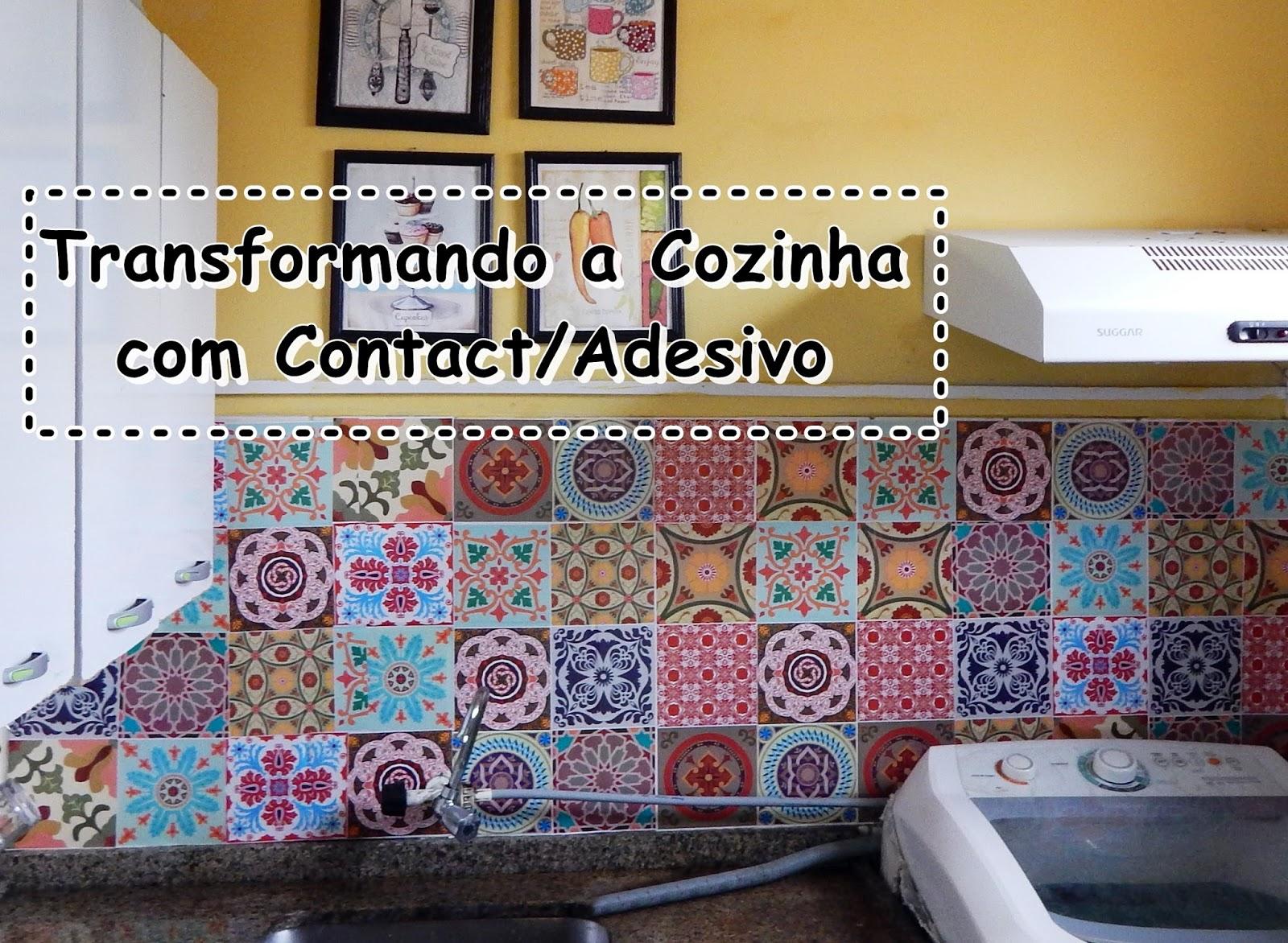 Repaginando A Cozinha Com Adesivo Contact Azulejo D Mimos E