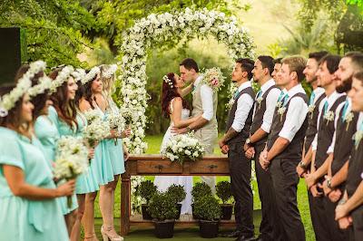 Ceremonia en un jardín