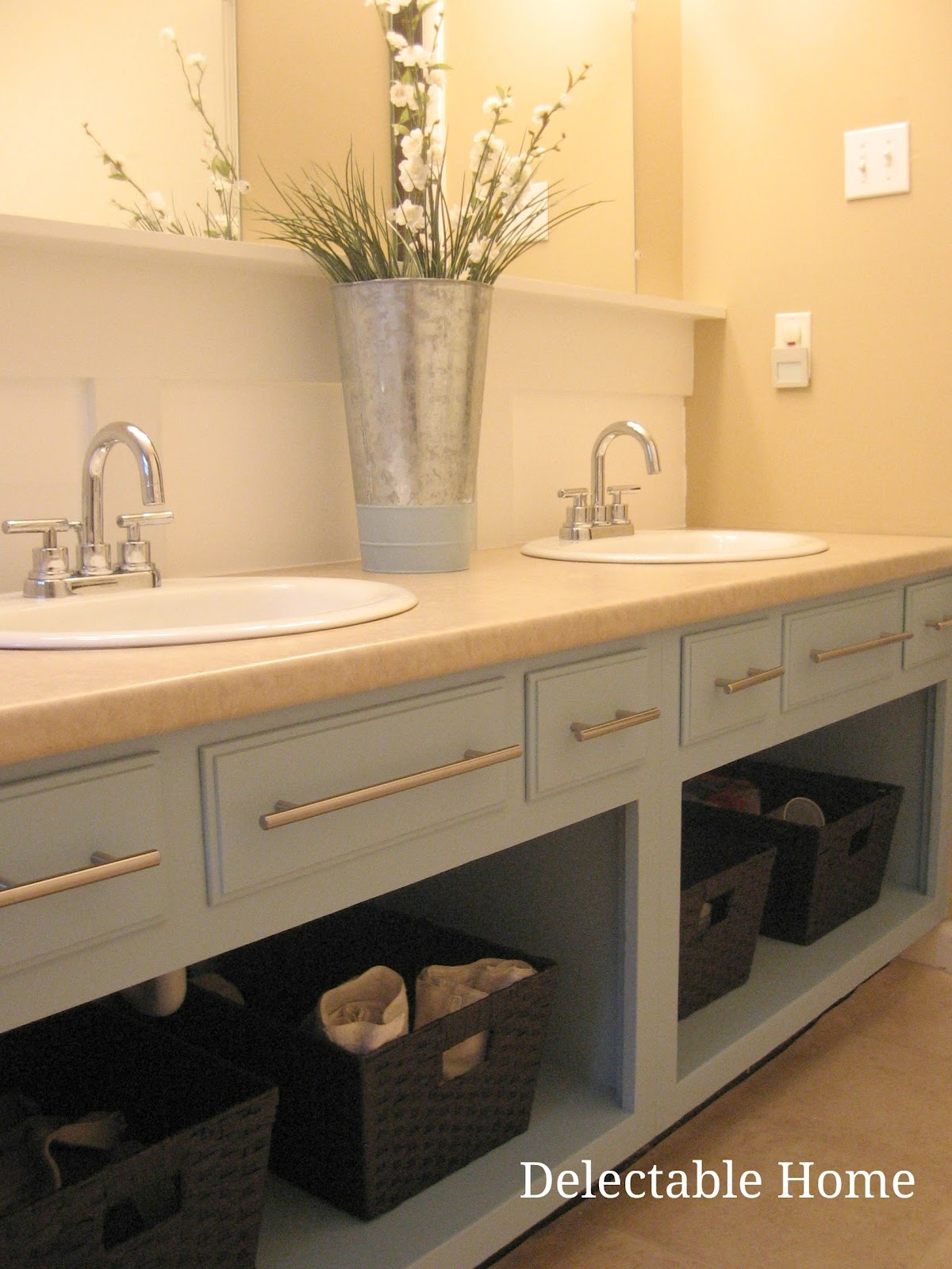 The Delectable Home Turquoise Bathroom Sink