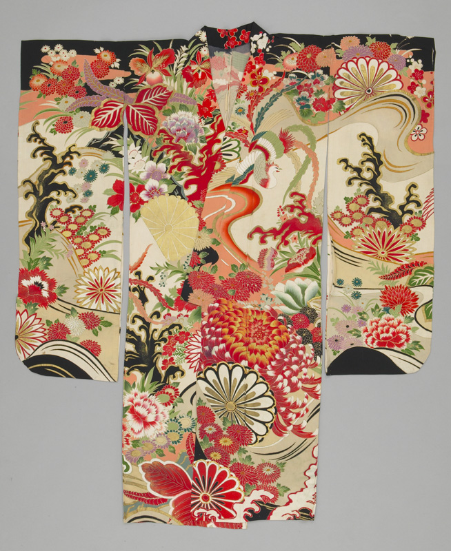 early 20th century silk kimono furisode