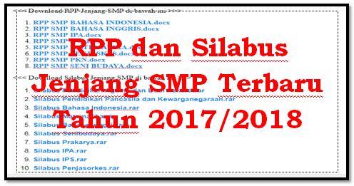 Download RPP dan Silabus Kurikulum 2013 Jenjang SMP Lengkap