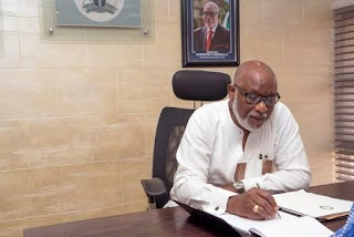 See Office Photos of Akeredolu's First Day as Governor of Ondo State